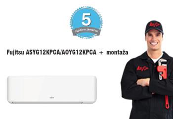 Fujitsu ASYG12KPCA_AOYG12KPCA + montaža